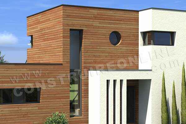 Plan de maison contemporaine optimist for Entree de maison contemporaine
