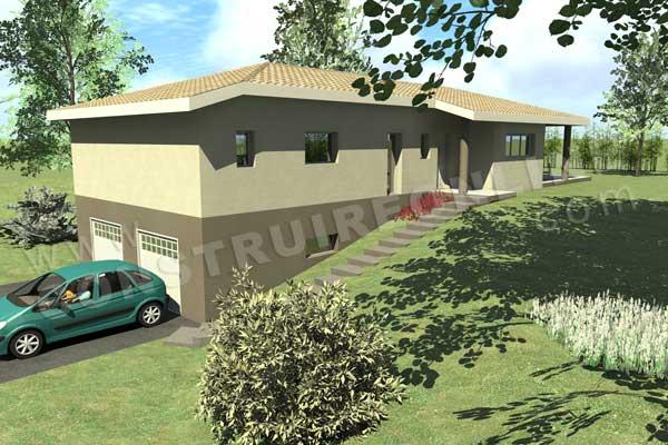 Plan maison garage sous sol for Plan de maison avec sous sol