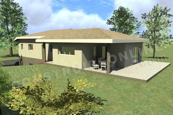 Plan de maison moderne taupe gun for Plan maison sous sol