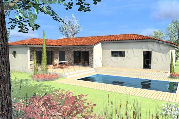 Plan de maison moderne florida for Voir sa maison en 3d