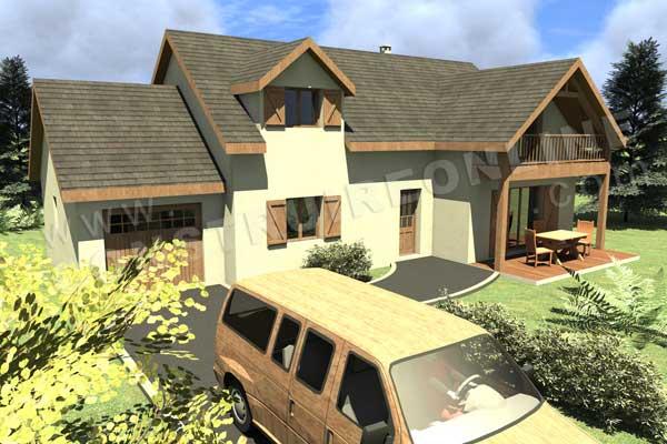 Plan de maison traditionnelle galinat for Maison traditionnelle nord
