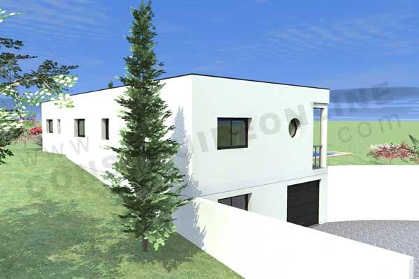 Plan de maison contemporaine boxtobox for Plan maison contemporaine avec sous sol