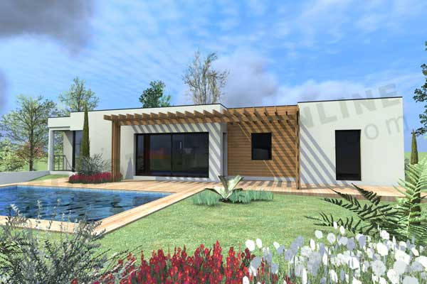 Plan de maison contemporaine boxtobox - Plan maison toit plat gratuit ...