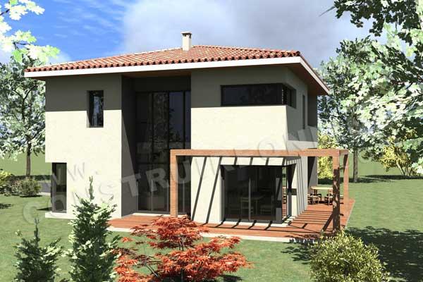 Vente de plan de maison moderne for Maison etage moderne