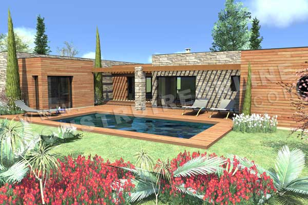 Plan de maison cosmos for Local piscine toit plat