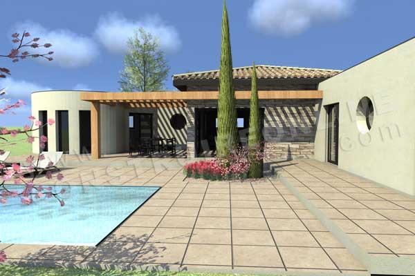 Plan de maison contemporaine CAMELIA