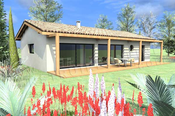 Plan de maison moderne charoca for Plan maison jardin