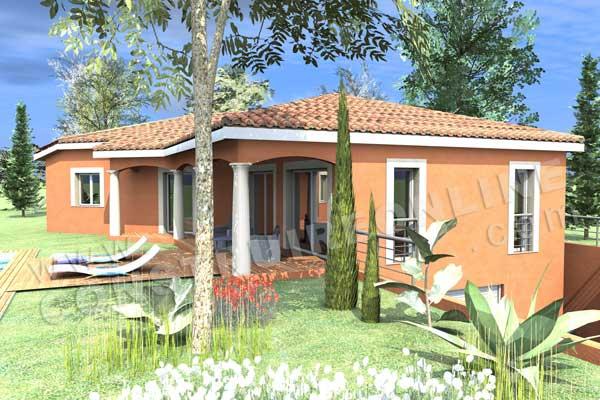 Plan de maison traditionnelle castellane for Construction virtuelle maison gratuit