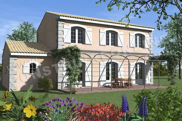 Plan de maison traditionnelle bastidette - Maison charme et tradition ...