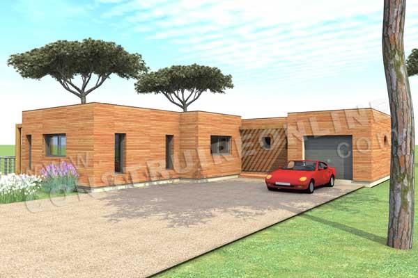 Plan de maison bois tandem for Tandem garage