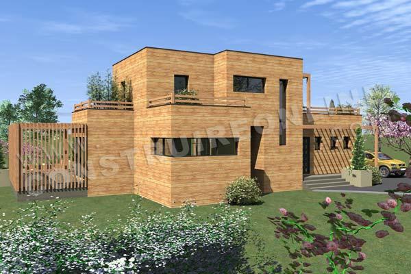 Plan de maison bois infinity for Voir sa maison en 3d