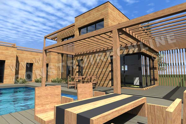 Plan de maison bois infinity for Extension maison bois etage