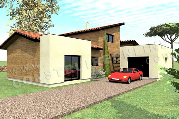 plan maison HELIOS garage