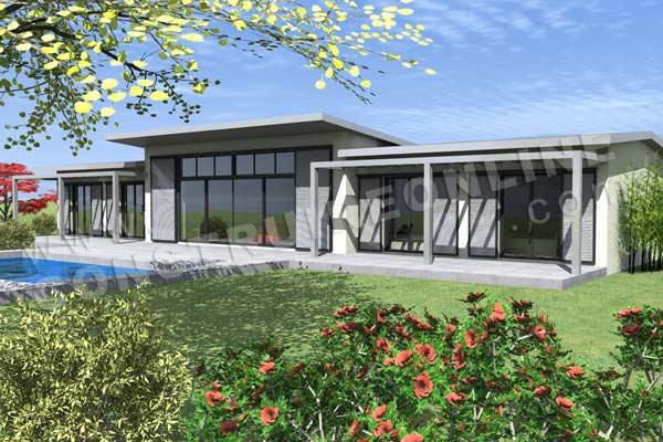 Plan de maison contemporaine zenith for Plan maison moderne contemporaine