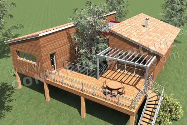Assez Plan de maison bois PODIHOME ZM59