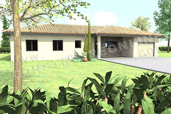 Plan de maison traditionnelle olympe - Plan online maison ...