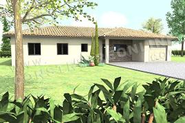 plan maison OLYMPE garage