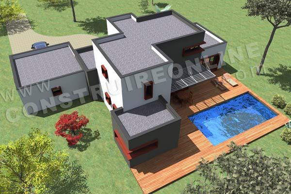Plan de maison contemporaine tramontana for Simulation construction maison 3d gratuit