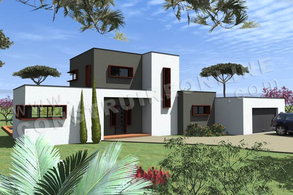 Plan de maison contemporaine tramontana for Plan de maison contemporaine a etage gratuit