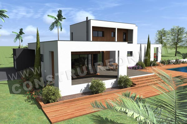 Plan de maison contemporaine horizon for Plan de maison contemporaine a etage gratuit