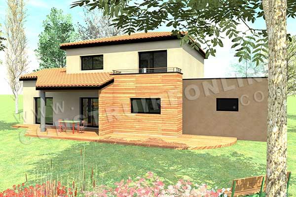 Plan de maison moderne cassiopee for Plan exterieur maison 3d gratuit