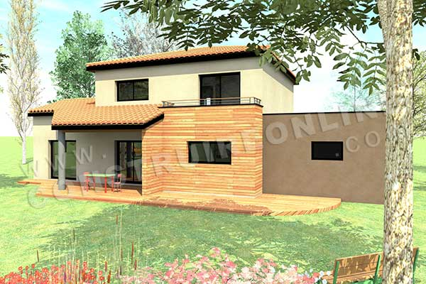 plan de maison moderne cassiopee. Black Bedroom Furniture Sets. Home Design Ideas
