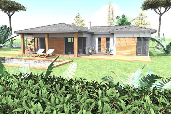 Plan de maison moderne vertigo for Plan maison online