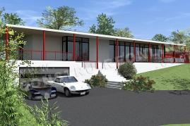 Plan de maison contemporaine LUMINANCE vue garage