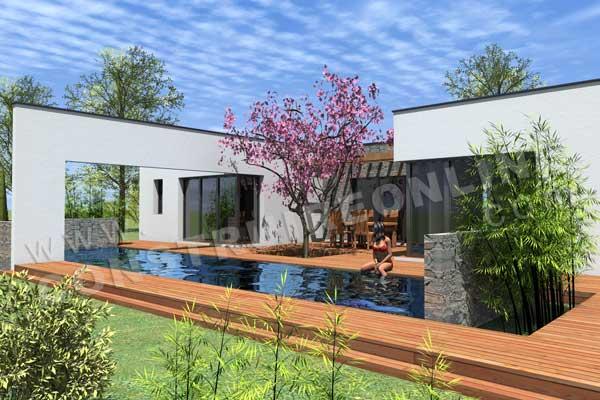 Plan de maison contemporaine tokyo for Architecte 3d bois