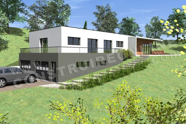 Plan de maison contemporaine caravelle for Construire une maison 120m2