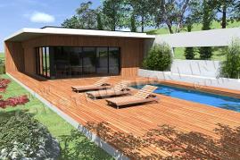 Vente de plan de maison terrain en pente for Caravelle piscine