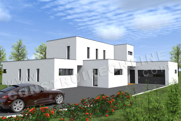 Plan de maison contemporaine lounge for Belle maison moderne plan