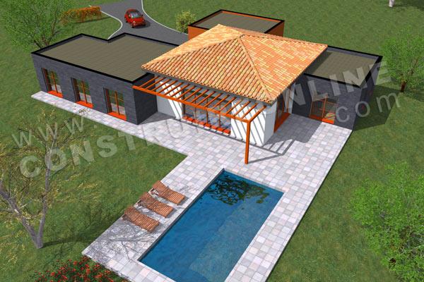 Plan de maison moderne sofa - Architecture villa moderne gratuit ...