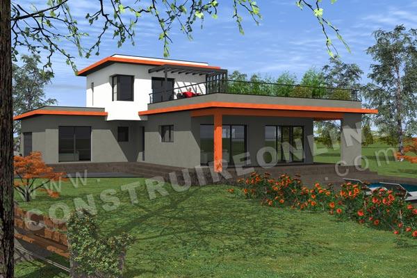 Plan de maison contemporaine INITIALE