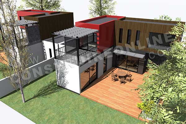 Plan De Maison Contemporaine Modulo 1