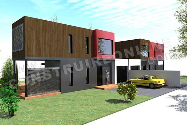 Plan de maison contemporaine modulo 1 - Plan de maison modulaire ...