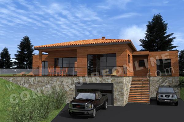 Vente de plan de maison avec terrain en pente for Terrasse terrain en pente