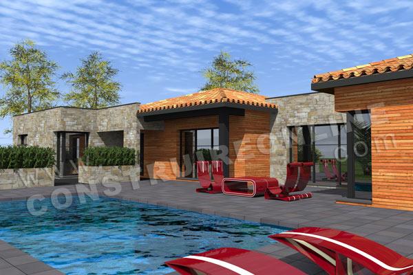 Plan de maison moderne must for Construction piscine 3d