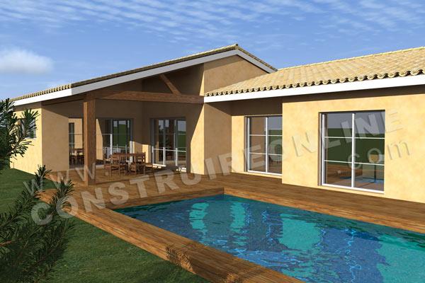 Vente de plan de maison avec terrain en pente for Plan de maison avec piscine