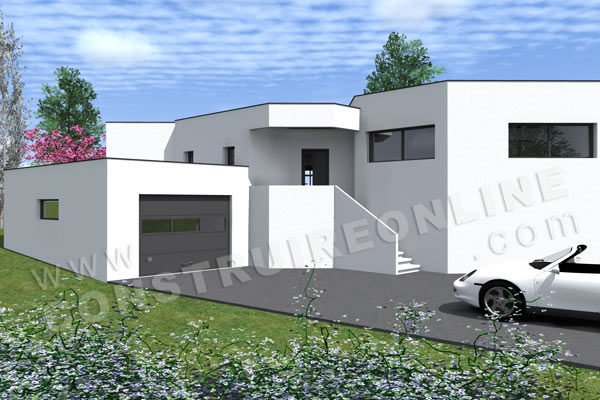 Plan de maison contemporaine nova for Plan maison architecte contemporaine