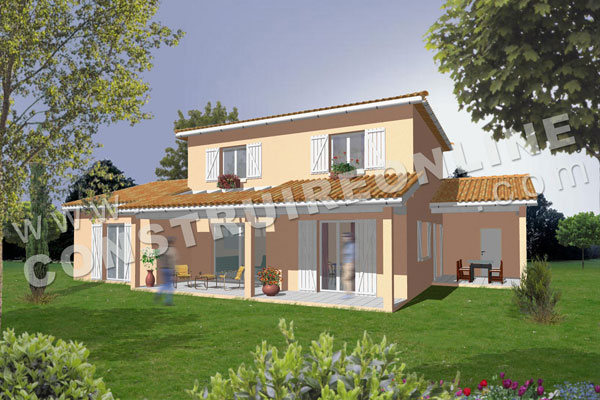 Plan de maison traditionnelle compact for Plan maison traditionnelle