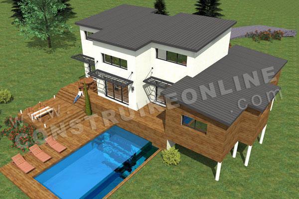 plan de maison contemporaine crocus. Black Bedroom Furniture Sets. Home Design Ideas