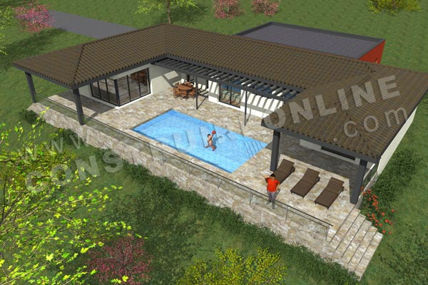 Plan de maison moderne fairway for Terrain pour construction maison