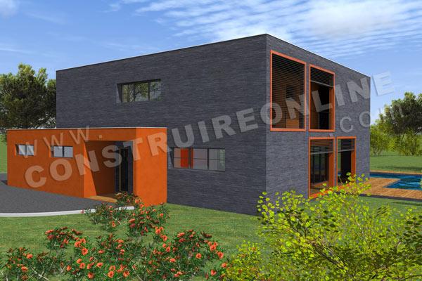 Plan de maison contemporaine boxy - Interieur maison cubique ...