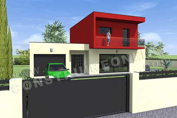 Plan de maison contemporaine oslo - Interieur maison cubique ...