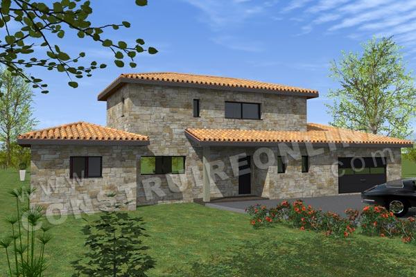 Plan de maison moderne laborie for Voir sa maison en 3d