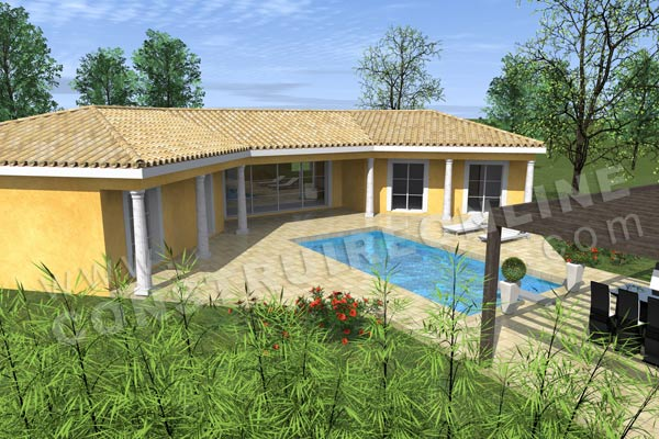 plan maison traditionnelle terrasse EAGLE