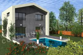 plan maison contemporaine terrasse ONYX