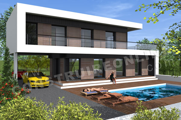 Plan Maison Architecte Contemporaine SCABIOSA Terrasse