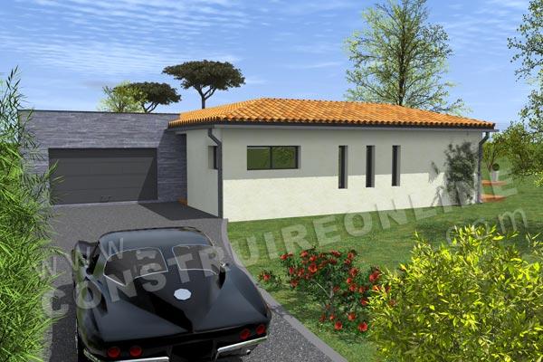 Plan de maison moderne tetris for Voir sa maison en 3d